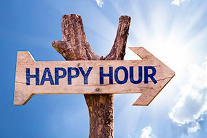 Happy hour sign